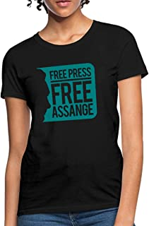WikiLeaks Free Press Free Assange Women's T-Shirt