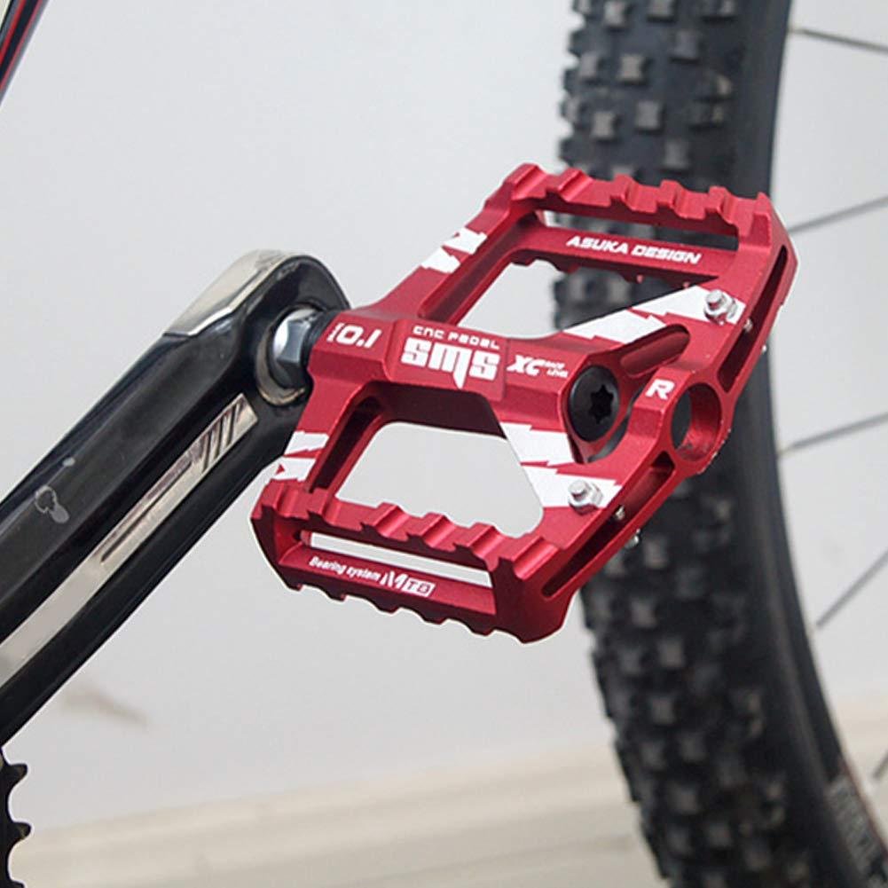 Antrygobin - Pedales Anchos Antideslizantes para Bicicleta MTB de montaña (1 par, aleación de Aluminio), Azul: Amazon.es: Deportes y aire libre