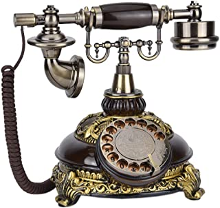 Golden Code Retro Mobile Phone/Old-Fashioned Telephone Rotating Dial, Home Office Decoration Supplies Retro Landline