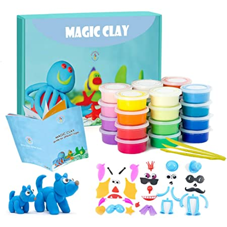 CT Super Light DIY Clay for Model Air Dry Clay Use for KDs Project Work Gift for KDs Clay Pack of 12 Pcs Pack of 12 pcs Colours Colors Air Dry Clay + Free Cartoon Striker