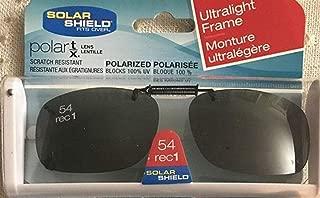 2 Solar Shield Clip-on Sunglasses Size 54 rec 1 Frameless Ultralight New