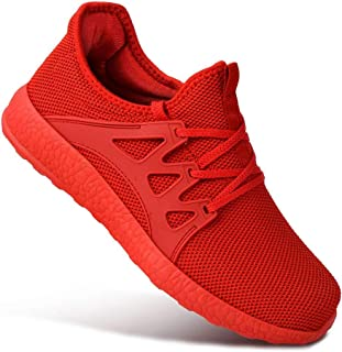 Guteidee Mens Sneakers Running Walking Gym Sport Lightweight Breathable Mesh Street Shoes