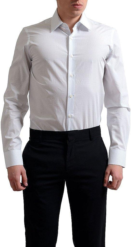 Prada Men's Striped Button Down Dress Shirt