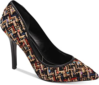 CHARLES DAVID Pio Black Multi Micro Pointed Toe Stiletto Heel Pumps