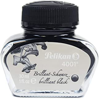 Pelikan 4001 Bottled Ink for Fountain Pens, Brilliant Black, 30ml, 1 Each (301051)