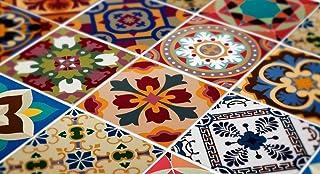 comprar comparacion Adhesivos para Azulejos - Paquetes con 48 (20 x 20 cm, Talavera Tradicionales Mexicanos Adhesivo para Azulejos Decoración)