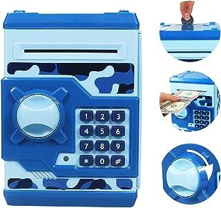 Elemusi Cartoon Electronic Password Mini ATM Piggy Bank Cash Coin Can Auto Scroll Paper..