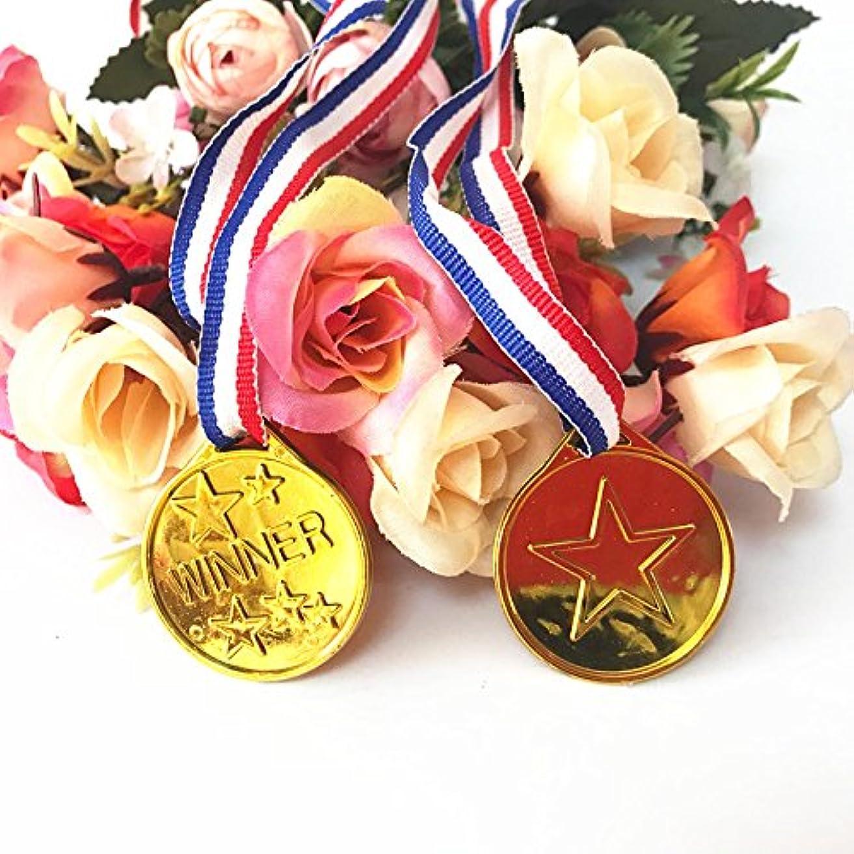 煩わしいファイル取り扱いゴールドメダル 12個セット 金メダル おもちゃ 子供 スポーツ賞 演劇 様々な イベント の 表彰 に Pichidr