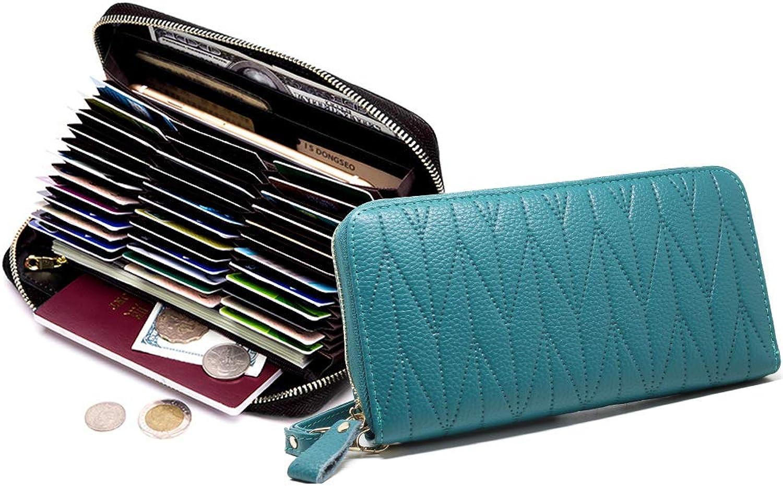 Imeetu Women's Credit Card Holder Wallet Case Leather Wristlet Clutch 36 Slots