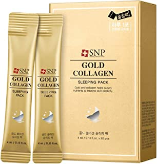 SNP - Gold Collagen Water Sleeping Pack - 20 Pack