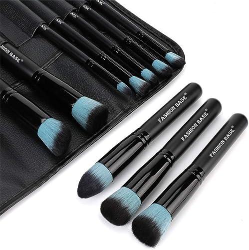 Makeup Brushes Set- Professional 10Pcs Premium Kabuki Essential Makeup Brushes with Case Prime Cosmetics Tools for Fa...