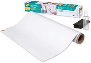 Post-it Flex Write Surface, Permanent Marker Wipes Away With Water, 3ft x 2ft, White Dry Erase Whiteboard Film (FWS3X2)