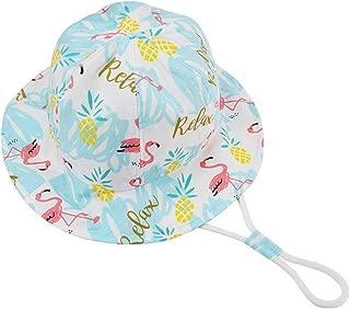 Kirmoo Kids UPF50+ Safari Sun Hat Breathable Bucket Hat Baby Boy Girl Summer Play Hat