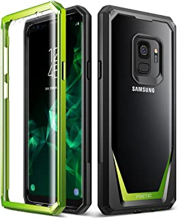 Galaxy S9 Case, Poetic Guardian [Scratch Resistant Back] [360 Degree Protection]Full-Body Rugged Clear Hybrid Bumper Case with Built-in-Screen Protector for Samsung Galaxy S9 Green