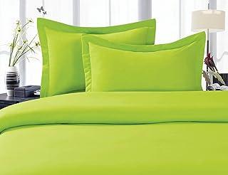 Elegant Comfort 1500 Thread Count Egyptian Quality Super Soft Wrinkle Free 4-Piece Sheet Set Full E-L - 1500 Full Lime