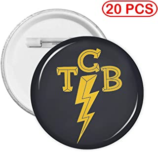 Elvis-The King of Rock 'n'roll TCB Round Pattern Badge with Pin