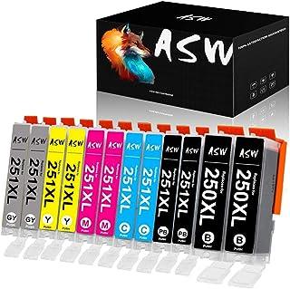 ASW Compatible Ink Cartridge Replacement for PGI-250 CLI-251 PGI-250XL CLI-251XL PIXMA iP8720 PIXMA MG6320 PIXMA MG6620 PI...