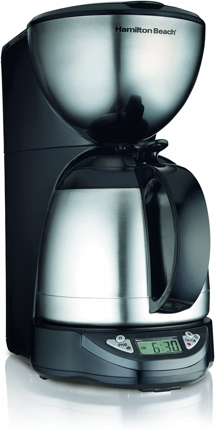 Hamilton Beach 10-Cup Coffee Maker, Programmable with Thermal Insulated Carafe (49855)