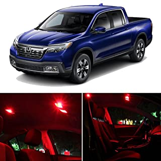SCITOO LED Interior Lights 12 pcs Red Package Kit Accessories Replacement Fits for Honda Ridgeline 2017 UP