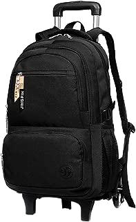 BOZEVON Children's Trolley Backpack - Fashion Simple Design Large Capacity Schoolbag, Black
