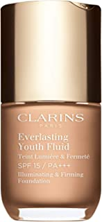 Clarins Everlasting Youth Fluid Illuminating & Firming Foundation With Spf 15 For Women, # 108 Sand, 30 ml