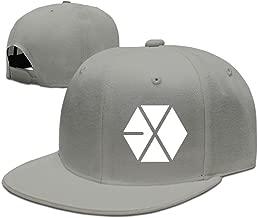 NUBIA EXO Logo Hip Hop Sun Protection Hat Snapback Flat Bill Cap Black