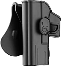 Bedone Glock Series OWB Holster Fit: 19, 23, 32,45,(Gen 1-5)/ 43/17, 22, 31,(Gen 1-5), Polymer OWB Matte Paddle Holster, Right/Left Handed