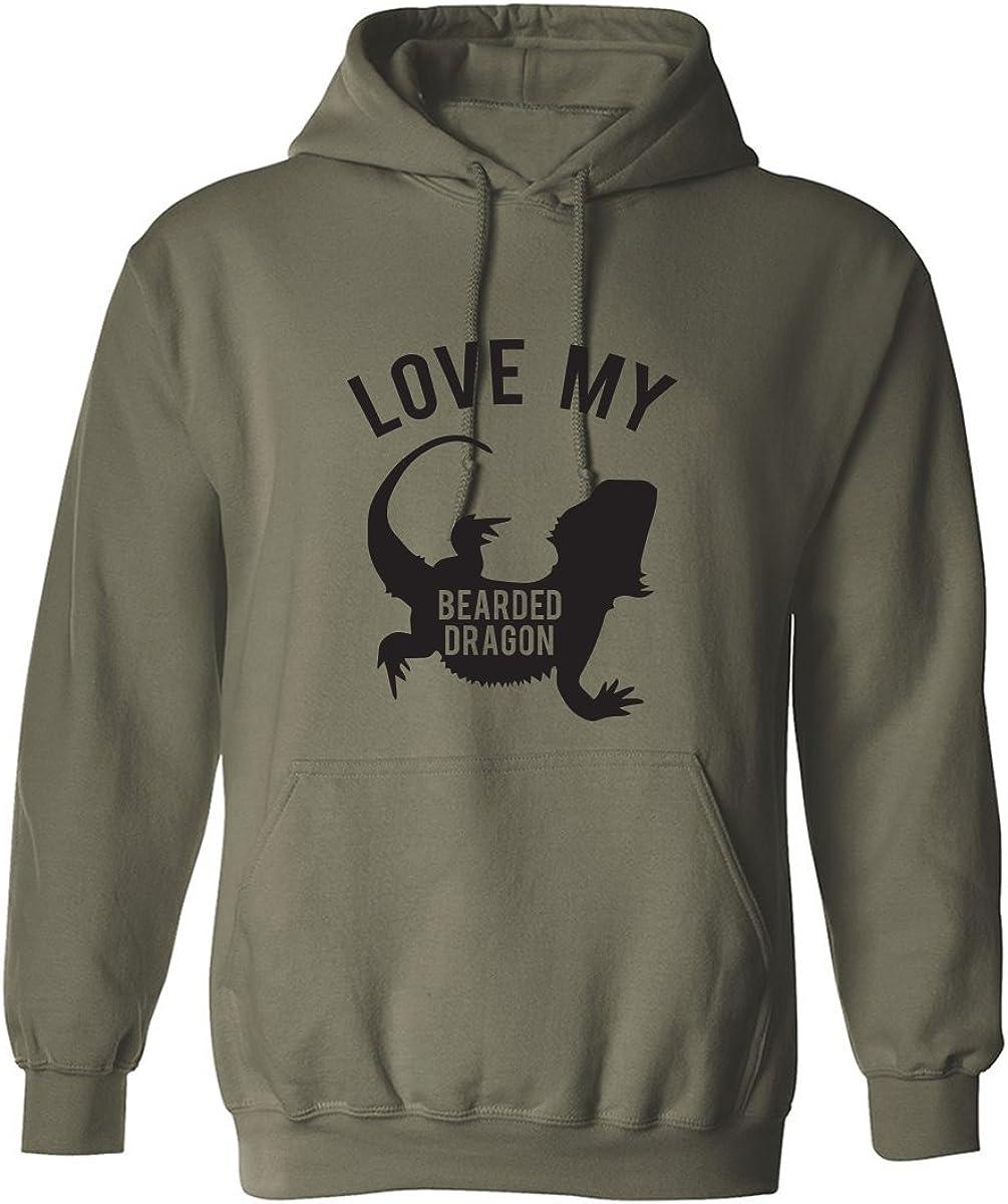 LOVE MY BEARDED DRAGON Adult Hooded Sweatshirt