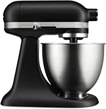 KitchenAid KSM3311XBM Artisan Mini Series Tilt-Head Stand Mixer, 3.5 quart, Matte Black