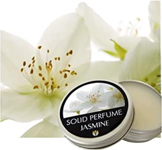 FLOWERLAND Solid Perfume - Portable Pocket Balm Perfume Perfect for Travel Use - Natural Fragrance Parfum for Men and Women - Natural & Vegan - Jasmine (30ml)