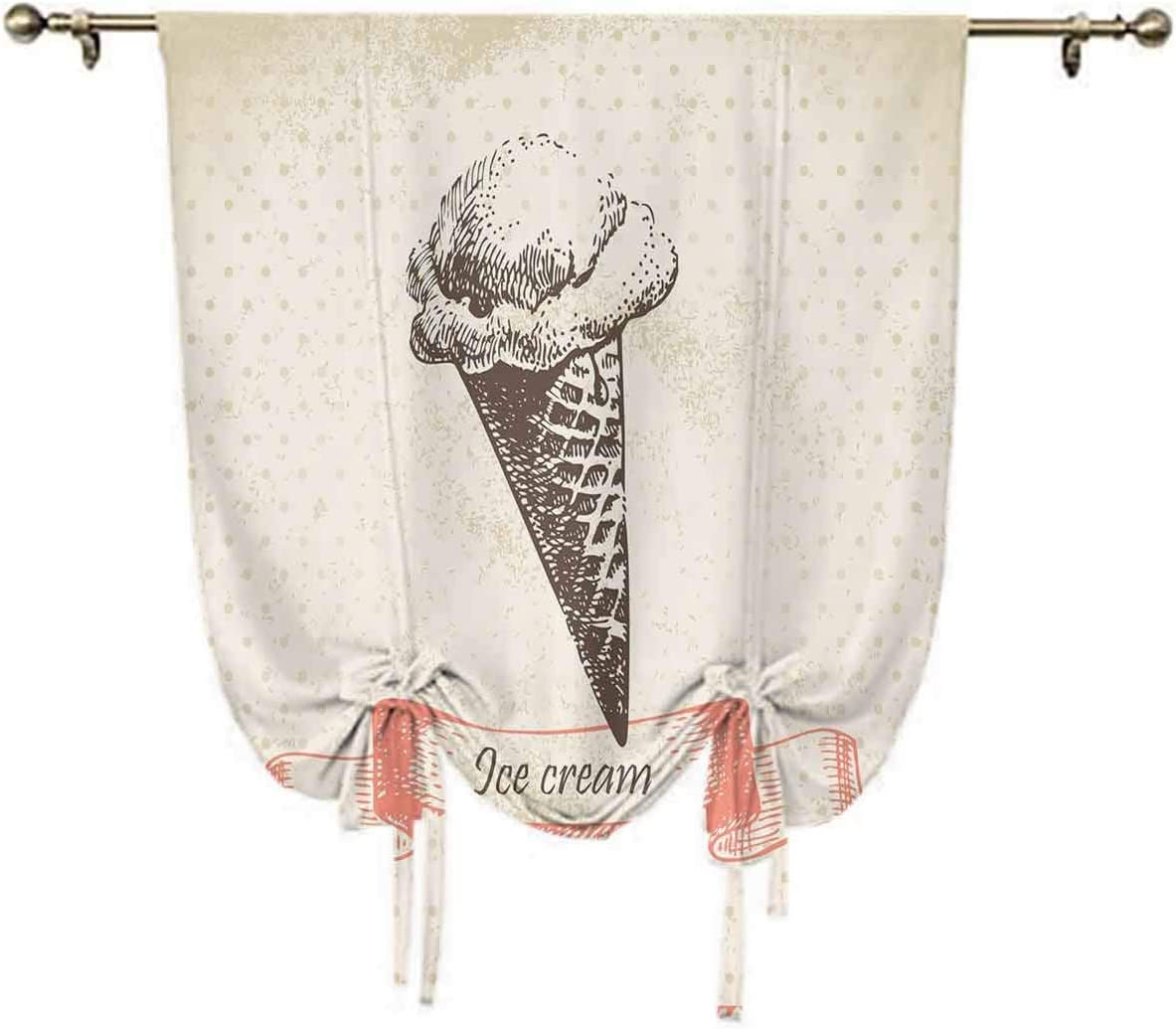 4 New sales years warranty Ice Cream Decor Small Curtain Grunge Window Nostalgic