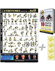 Eazy How To Stretch affisch träning träning stor 51 x 73 cm öka flexibiliteten, förlorar muskler, förhindrar skador hemma gym diagram