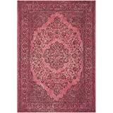 Safavieh Classic Vintage Collection CLV121G Fuchsia Area Rug, 8' x 10'