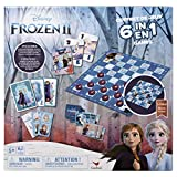 Comes with 6 classic games: Bingo, Memory Match, Dominoes, one set of playing cards, Snakes and Ladders, and Checkers Features art from the hit Disney movie Frozen 2 Great gift for any fan of the Frozen universe Recommended for 2-4 players, ages 4 an...