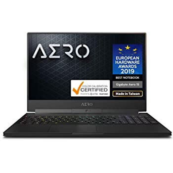 "[2020] Gigabyte AERO 15 OLED YB Thin+Light High Performance Laptop, 15.6"" 4K UHD OLED Display w/ 100% DCI-P3, GeForce RTX 2080 SUPER Max-Q, i9-10980HK, 32GB DDR4, 512GB NVMe SSD, Up to 8.5-hrs Battery"