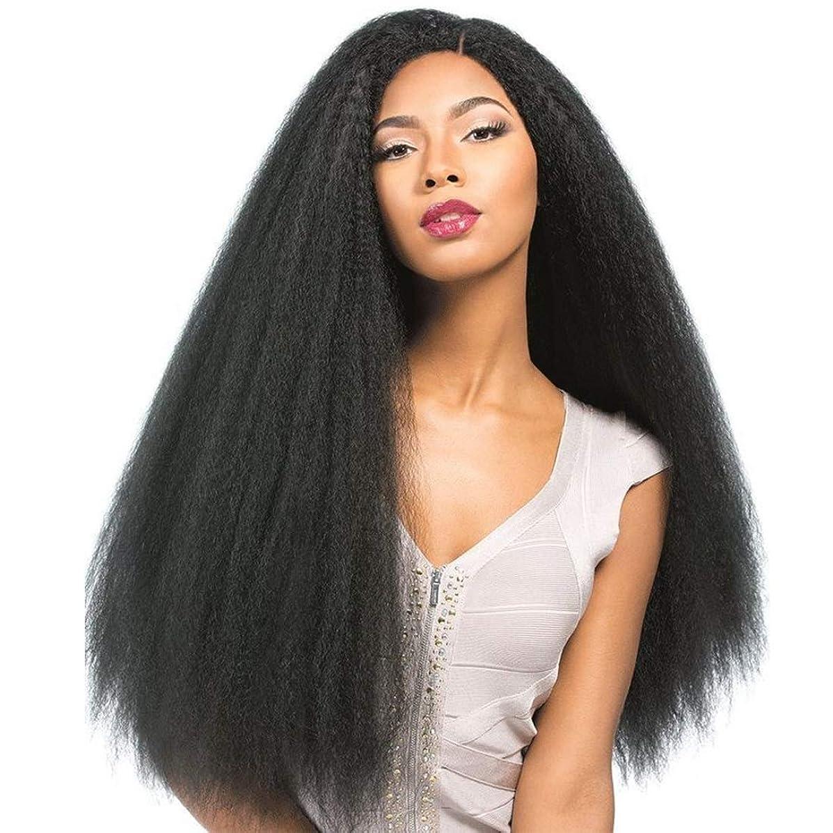 Nadula Brazilian Yaki Kinky Straight Wig 130% Density Free Part Remy hair wigs 8-24 Inch Natural Color 13×4 Lace Front Human Hair Wigs (18inch, Natural Color)