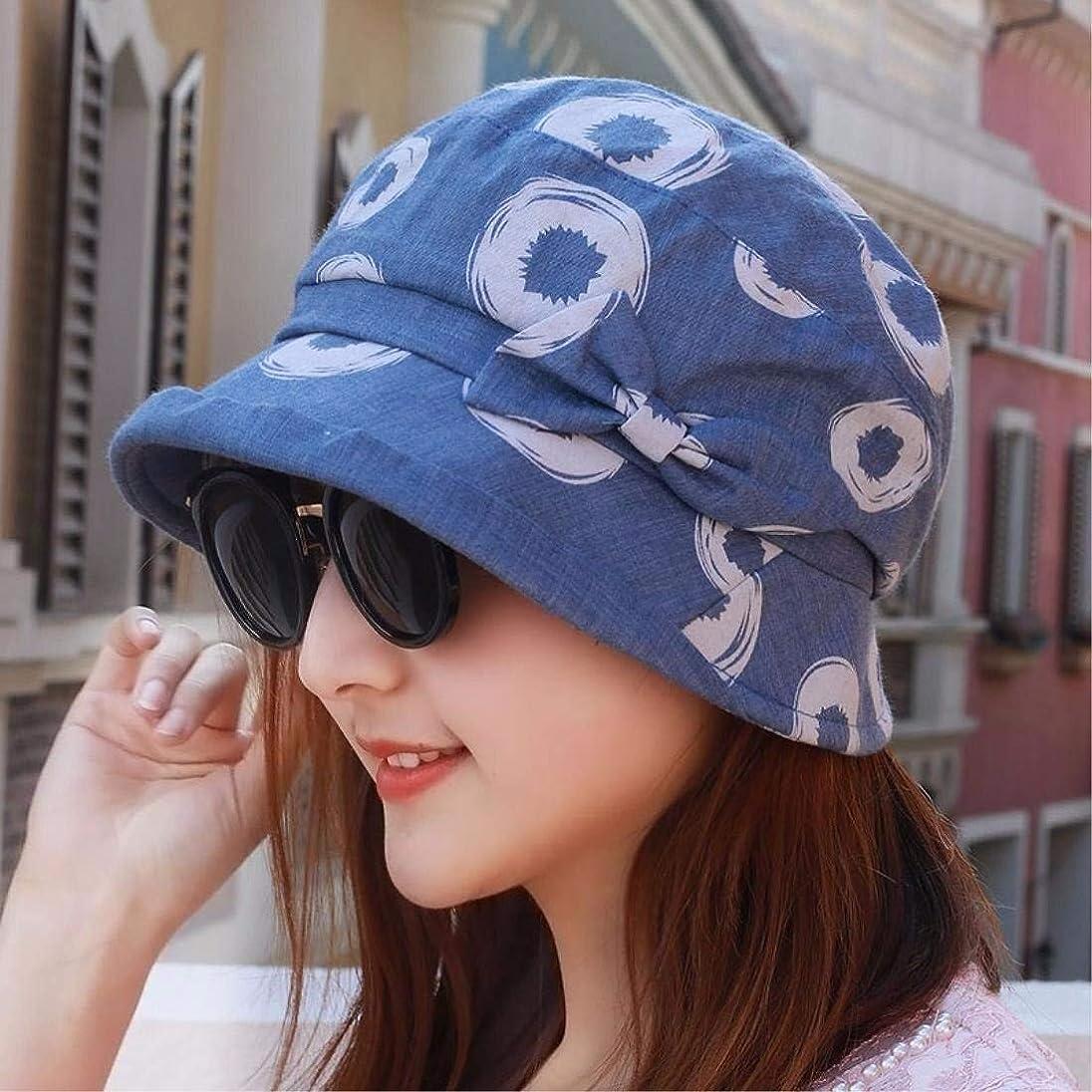 怒って豪華なポジションChuangshengnet ちょう結びの女性広いつばの調節可能な折り畳み式のバケツの帽子のための日曜日の帽子