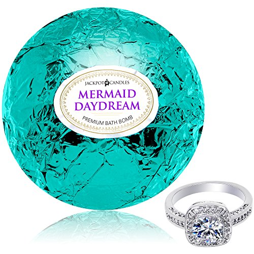 Bath Bomb with Ring Inside Mermaid Daydream Extra Large 10 oz. Made...