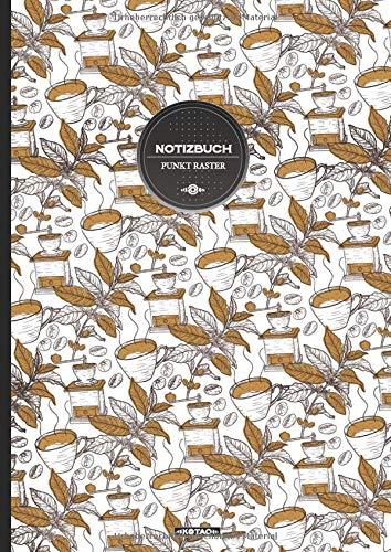 KOTAO Notizbuch Punkt Raster DIN A4 #290 Kaffee Coffee: (150 Seiten, 90g/m2, Softcover, gepunktet, Seitenzahlen - Notizheft, Tagebuch, Malbuch, Skizzenbuch, Dot Grid Journal)