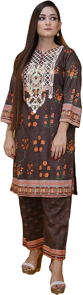 Ready to Wear Khadder Embroidery Pakistani Dresses for Women Shalwar, Kameez with Dupatta - Three Piece Set
