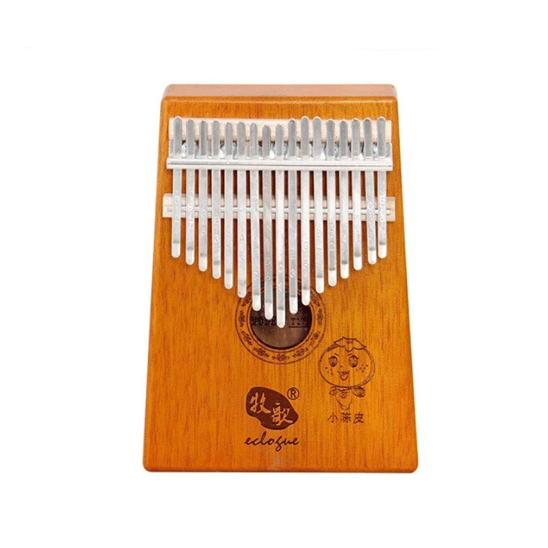 キャリッジユニークな手綱サムピアノ、カリンバ17トーンサムピアノマホガニーベニヤ、大人の初心者に適しています/プロのパフォーマンス学習ポータブル機器、最高のギフト