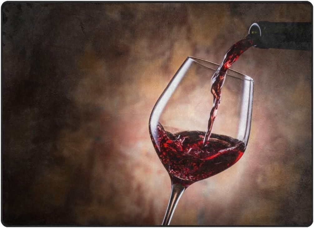 Cooper Girl Red 新作販売 Wine Splash Area L Rug ※アウトレット品 Mat 6'8