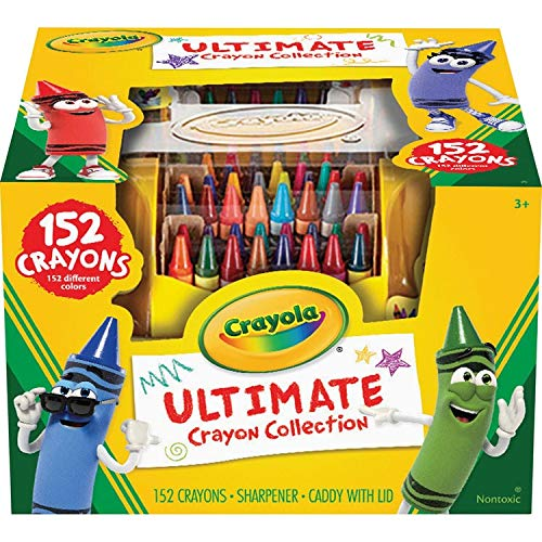 Crayola Ultimate Crayon Case, Sharpener Caddy, 152 Colors