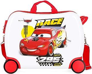 Disney Cars Joy Multicoloured Kids Rolling Suitcase 50 x 38 x 20 cm Rigid ABS Combination Lock 34 Litre 2.3 kg 4 Wheels Ha...