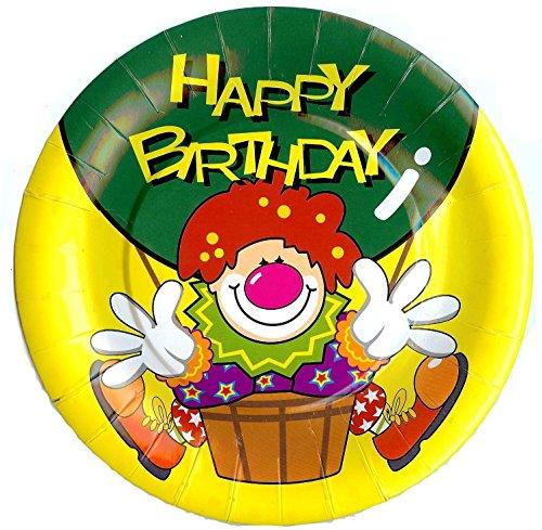 Toyland 18 Plaques de Fête de Clown - 3 Paquets de 6 - (MI209) [Le Jouet]