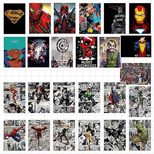 WYDML Pegatinas de película de Marvel, Pegatinas de Graffiti de superhéroe Mixtas, Pegatinas Impermeables de PVC de Spider-Man, 25 Piezas