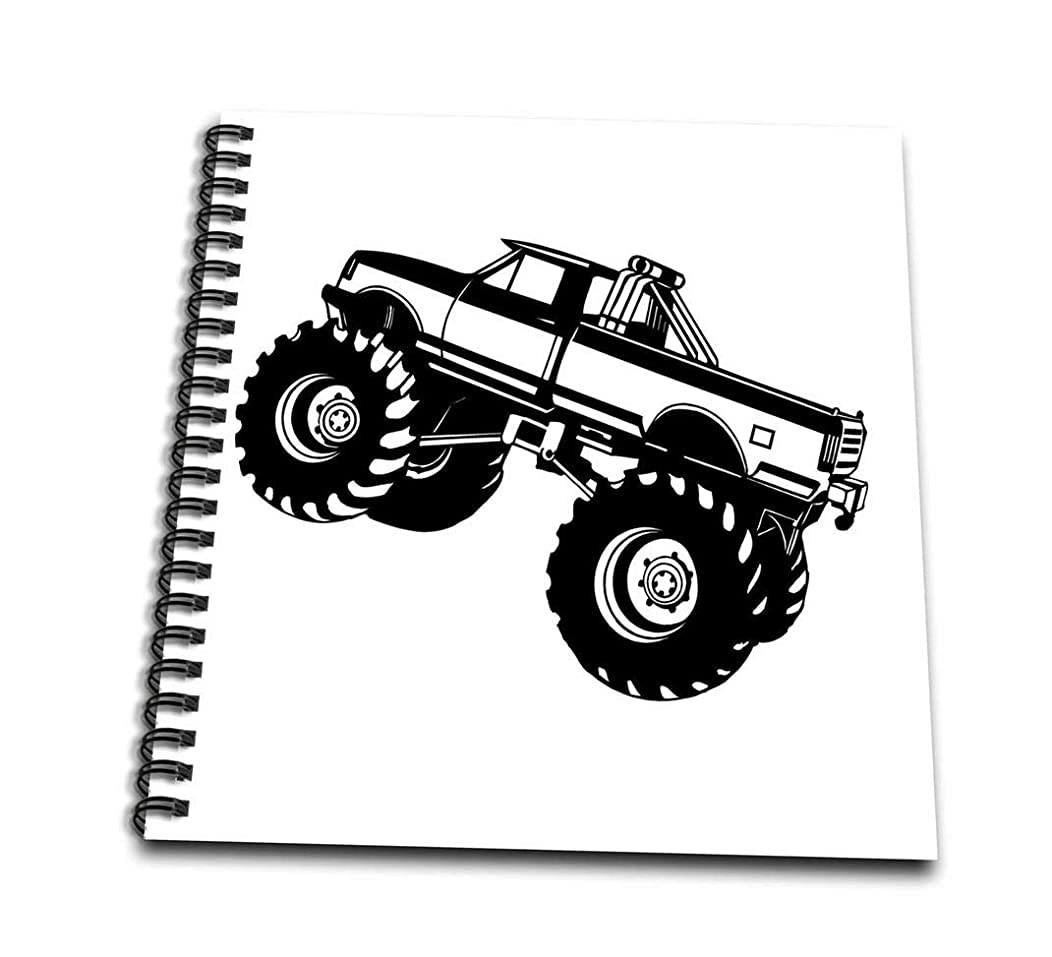 3dRose db_157406_3 Monster Truck Mini Notepad, 4 by 4