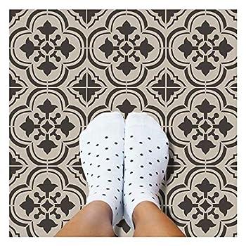 Santa Ana Tile Stencil - Cement Tile Stencils - DIY Portuguese Tiles - Reusable Stencils for Home Decor  Small Tile Stencil Size 6x6