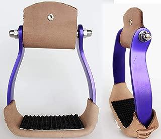 purple western stirrups