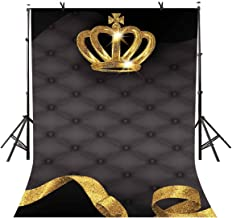 LYLYCTY 5x7ft Crown Backdrop Bling Crown Grey Sofa Photography Background and Studio Photography Backdrop Props LYGE813